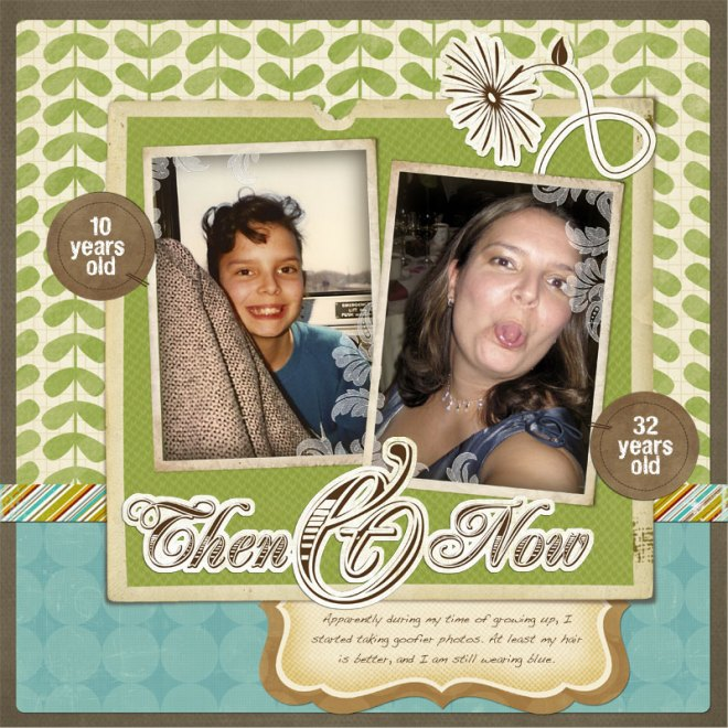 first digital scrapbook page